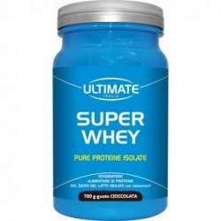 ULTIMATE SUPER WHEY  GUSTO CIOCCOLATO PURE PROTEINE ISOLATE 700 G