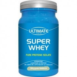 ULTIMATE SUPER WHEY  GUSTO VANIGLIA PURE PROTEINE ISOLATE 700 G