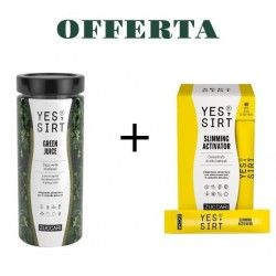 OFFERTA ZUCCARI YES SIRT GREEN JUICE 280 G + SLIMMING ACTIVATOR 40 STICK PACK
