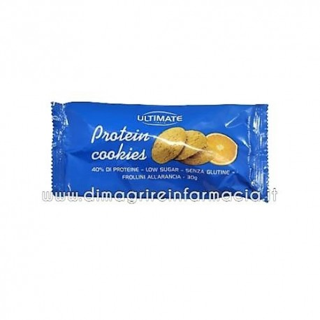ULTIMATE PROTEIN COOKIES FROLLINI PROTEICI ALL'ARANCIA